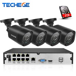 Detection Systems Security Canada - Plug And Play 8CH NVR 48V POE CCTV System Onvif P2P 1080P HD H.264 Motion Detection Outdoor Security POE IP Camera Xmeye