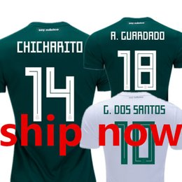 Mexico Soccer Jerseys 2018 World Cup 2019 Camisetas de Futbol Camisa Home  Green Away White CHICHARITO Top Thailland National Football Shirt 0a534710b