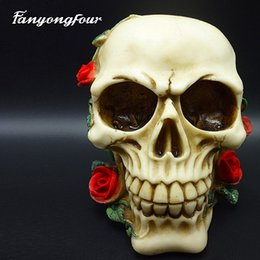 Mold free candle online shopping - Roses skull head cakes mold silicone mold chocolate gypsum candles soap candy mold kitchen baking