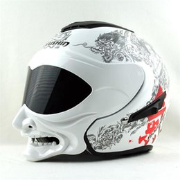 New personality Marushine C609 motorcycle helmet Summer helmet Marushin grimace warrior style Open face Half on Sale