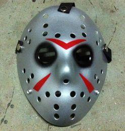 Black Jason Mask Canada - New Cosplay Silver Face Black Eye Friday The 13th Jason Voorhees Hockey Mask