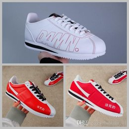 buy cheap fast delivery the cheapest cheap online 2018 men women Cortez X Kendrick Lamar Damn QS Leather leisure Nlyon Casual White Red Shoes fashion Designer Running Sneakers McYtrnntBN