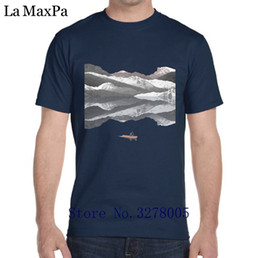 mountain tees Canada - La Maxza Personalized T-Shirt Cute New Mountain Lake T Shirt Men Letter Cotton Men's Tshirt S-3xl Tee Shirt Humour High Quality