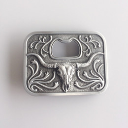 belt bull NZ - New Vintage Western Long Horn Bull Bottle Opener Belt Buckle Gurtelschnalle