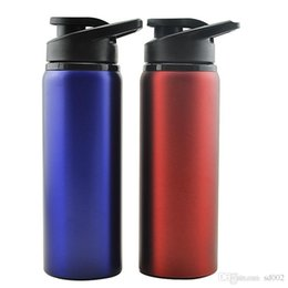 Wholesale 700Ml Stainless Steel Kettle Outdoors Sport Monolayer Oversize Water Bottles Pratical Leak Proof Bike Travel Drinkware Quality ta ZZ
