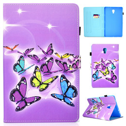 character inch tablet cover NZ - PU Leather Case For Samsung Galaxy Tab A 10.5 inch 2018 T590 T595 Cover Fundas Tablet Fashion Painted Skin Flip Stand Shell