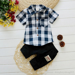 Baby Girl Summer Suits Australia - Summer Children Boys Girls Fashion Clothing Suits Baby Handsome T-shirt Short Pants 2Pcs Sets 2018 Kids Clothes Sets Tracksuits