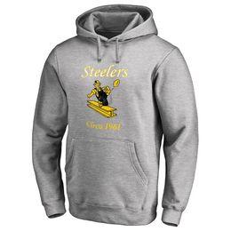 3439790a2 Men s american football hoodies PITTSBURGH STEELER 7 Ben Roethlisberger  JuJu Smith-Schuster Brown Villanueva Ryan Shazier BELL sweatshi