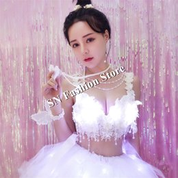 $enCountryForm.capitalKeyWord NZ - EC57 Ballroom dance led costumes luminous light glowing women dj tutu dresses party bikini performance show wears clothe bar bra outfit led
