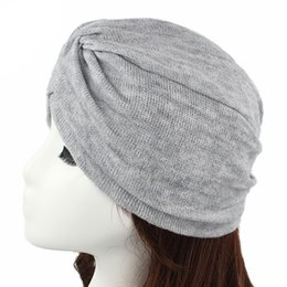 $enCountryForm.capitalKeyWord Australia - Muslim Wrap Pleated Stretch Ruffle Women's Cashmere Cancer Beanie Chemo Turban Hat Cover Headwear Cover Hair Loss Accessories
