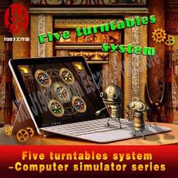 Gerçek hayat odası kaçış prop Beş turntables sistemi bilgisayar simülatörü serisi JXKJ1987 adventurer oyunu prop Yeni gelenler