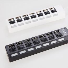 Высококачественный USB-удлинитель Splitter Высокоскоростные USB2.0 порты USB-концентратора 480 Мбит / с, совместимые для портативного ПК НЕТ Пакет