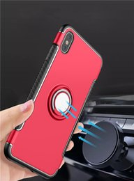 $enCountryForm.capitalKeyWord NZ - New Arrival Ring Car Phone Holder Kickstand Case Magnetic Cellphone Cover For Iphone XR XS MAX X 7 8 9 Plus Samsung Note 9 8 S9 S8 Plus