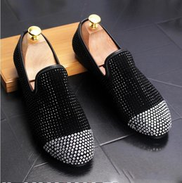 Studded Wedding Shoes Australia - 2018 Fashion Casual Formal Shoes For Men Black Genuine Leather Tassel Men Wedding Shoes Gold Metallic Mens Studded Loafers N202
