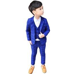 Hose Neue Kinder 3 Pcs Weste Blazer Anzug Für Jungen Formale Party Kleid Anzug Mit Bowtie Blume Jungen Hochzeit Dance Performance Anzug