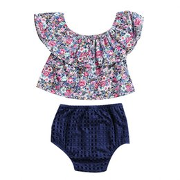 Off Boy Canada - Newborn Infant Toddler Baby Girls Floral Off Shoulder Tops Shorts Outfits 2Pcs Clothes 0-3T
