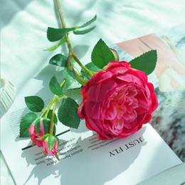 $enCountryForm.capitalKeyWord NZ - wholesale Upscale Nordic Style 3 Fork Artificial Rose Flowers Silk Simulation Single Branch Fake Flower For Wedding Home DIY Decor