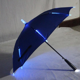 $enCountryForm.capitalKeyWord NZ - 7 Colors Changing Color LED Luminous Transparent Umbrella Rain Kids Women with Flashlight For Friends Best Gift in stock