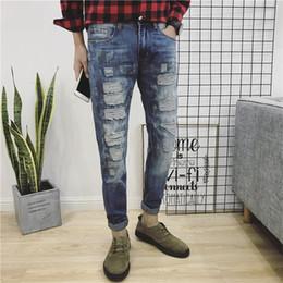 $enCountryForm.capitalKeyWord Canada - Men Jeans 2018 New Arrivals Men's Taper Personality Hole Denim Pencil Pants Jeans Male Slim Trousers Big Size 28-38 40 42 #2213