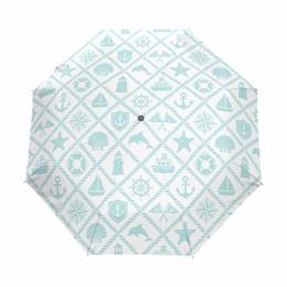 Umbrellas Cute NZ - Beautiful Design Creative Automatic Umbrella Rain Women Umbrellas Three Folding Paraguas Anti-UV Sun Rain Cute Umbrella Parasol