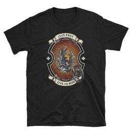 China Biker T-Shirt mens bike motor vintage skull chopper biker rider motorcycle urban Hot 2018 Fashion suppliers