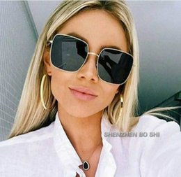 Big Square Sunglasses For Men NZ - 2018 NEW square frame vintage sunglasses Women Oversized Big Size Sun Glasses for Men Female Shades Black UV400 Eyewear