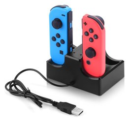 Chinese  4 In 1 Charging Dock Station LED Charger Cradle For Nintendo Switch 4 Joy-Con Controllers Nintend Switch NS Charging Stand 1pcs lot manufacturers