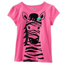 Baby Shirts Animal Patterns UK - Baby Girls Clothes 2018 Brand Baby T-shirt Kids Clothing Animal Pattern Girls Summer Tops Tees 100% Cotton Children T shirts