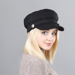 $enCountryForm.capitalKeyWord NZ - Vintage Hats For Women New Fashion Military Hat Flat Snapback Caps Female Sun Classic Designer Newsboy Hats Free Shipping