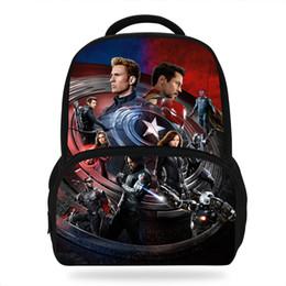 cf4a140ed8 Sacchetti di scuola dei bambini di vendita calda di 14 pollici Zaini di  Avengers di Marvel per i ragazzi