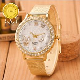 geneva mesh watch 2019 - Top Fashion Geneva women's watches Reloj Mujer Casual Quartz Watch Women Mesh Full Stainless Steel Dress Clock chea