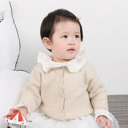 Baby Knit Jacket Cardigan NZ - Baby Girls Knitted Sweaters Cardigan for Children Autumn Clothes Kids Boys Warm Pure Color Tops Jackets Coats