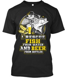 $enCountryForm.capitalKeyWord UK - I Rescue Fish And Beer - From Water Bottles Na Stylisches T Shirt New Metal Short Sleeve Casual Shirt Letter Top Tee