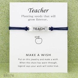 New Wish Teacher Charm Armbänder mit Karte Frauen Luxus Designer Unendlichkeit Armband Armreif für Mädchen Modeschmuck Geschenk