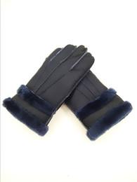Leather Wrist Gloves Australia - Free Shipping - Fashion winter men warm leather gloves pure wool gloves men gloves Windproof antifreeze