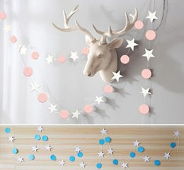 Party dots for balloons online shopping - 4meter paper Flag Party bell garland Decoration Banner Bunting for birthday wedding event baby shower décor star dots for balloon too