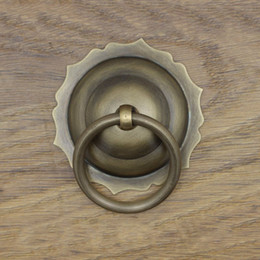 Ring Pull Drawer Handles NZ - one pic Chinese antique simple drawer knob furniture hardware Classical wardrobe cabinet shoe door handle closet cone vintage pull ring