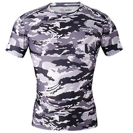 dd46b32eb Mens Cycling Jerseys Compression T Shirts Camouflage Tights Quick Dry  Summer Short Sleeve Run Fitness Wear Sports Clothing Hot