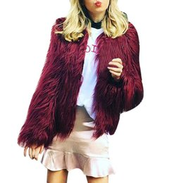 Warm Womens Jackets Canada - Ladies Warm Faux Fur Coat Womens 2017 Winter New Fashion Jacket luxury female Loose Long overcoat Parka #L