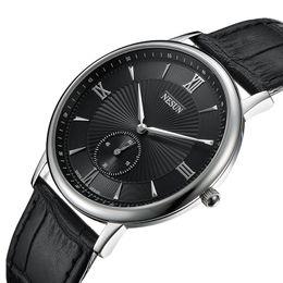 japan movement watches 2019 - Nesun Switzerland Luxury Brand Watch Men Japan MIYOTA Quartz Movement Lover's Watches Genuine Leather Waterproof cl