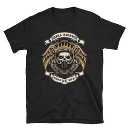 Chinese  Biker T-Shirt mens gothic gift skull bike rider chopper motorcycle rock metal Hot Sell 2018 Fashion manufacturers