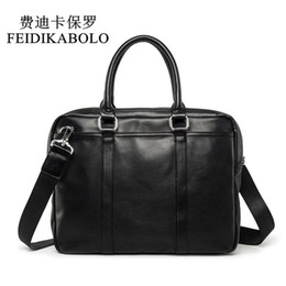 Leather computer bags online shopping - FEIDIKABOLO Famous Brand Business Men Briefcase Bag Man Shoulder Bag Luxury Leather Laptop Bag Simple Men s Handbag bolsa maleta