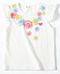 f1927113ef263 8 Photos Acheter en ligne T-shirts imprimés floraux-Tee-shirt fille en sept  couleurs
