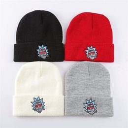 a6dfae4574a Rick And Morty Hats Elastic Brand Embroidery Warm Winter Knitted Cap  Skullies US Animation Ski Beanie For Women And Women 6 5ma aa