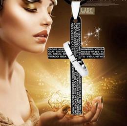 $enCountryForm.capitalKeyWord Australia - Bible Cross Single Circle Pendant Necklace Fashion Titanium Steel Men's Necklaces Hot Sales New 20pcs lot