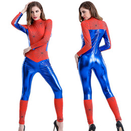 $enCountryForm.capitalKeyWord UK - Women Clothes Jumpsuit Holloween Cosplay Theme Costume Sexy Spider-Man Hero Style Superman Stage Wear Adult Long Pant Cool Party Clothing
