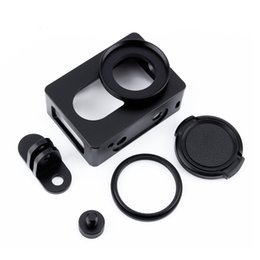 $enCountryForm.capitalKeyWord Australia - Freeshipping For Xiaomi Yi I Sport Action Camera Frame Protective Case Aluminum Alloy Housing Shockproof Case Frame Shell Lens Cover Mount