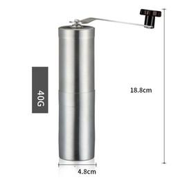 Portátil Mini Aço Inoxidável Handy Grind Coffee Been Pimenta Manual Máquina de Lapidação Prateado Viagem Camping Equipamentos Cilindro 21lb bb
