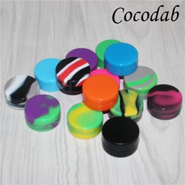 Small Oil Containers Australia - 20pcs Square Small Wax Containers Silicone Rubber non-stick Silicon Storage Wax Jars Dab Concentrate Tool Dabber Oil Holder for Vape Dry