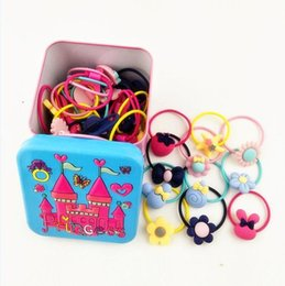 $enCountryForm.capitalKeyWord NZ - New 40Pc Elastic Rubber hair bands Girls Kitty floral ponytail holders headband Cartoon mixing elastic hair ring accessories Q18